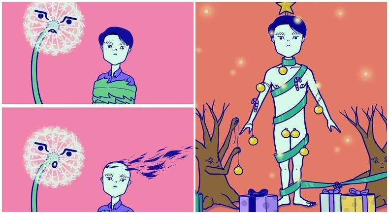 """""""Эсрэг ертөнцөд"""" - Солонгос уран бүтээлчийн хөгжилтэй комикууд"""