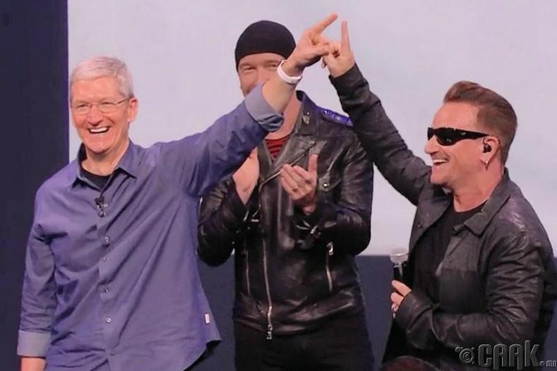 """""""Apple"""" болон """"U2"""" хамтлагийн цомог"""