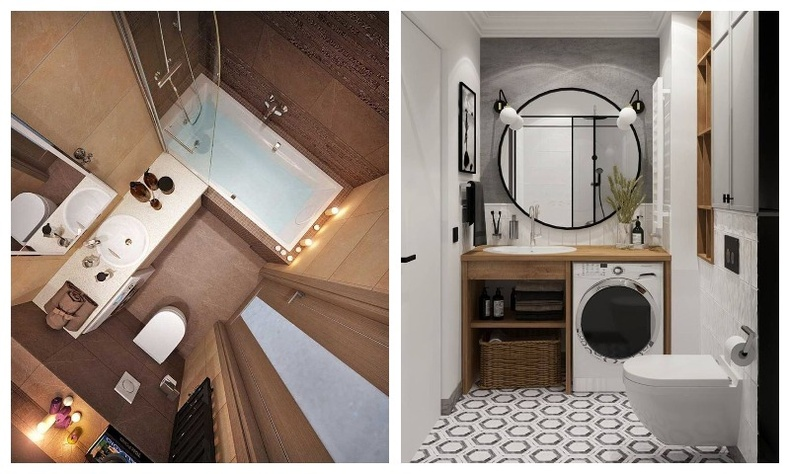 Жижиг талбайтай угаалгын өрөөг тохижуулах 15 гайхалтай санаа