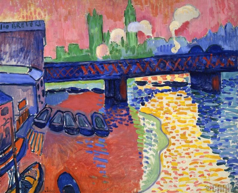 """Чэринг Кросс гүүр, Лондон"" (Charing Cross Bridge, London | Claude Monet)"