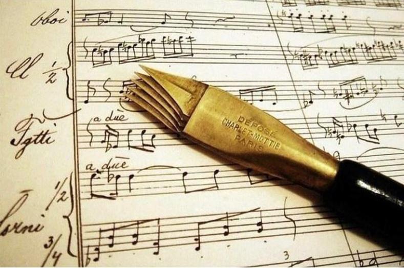 Хөгжмийн ноотны шугам зурахад зориулагдсан үзэг