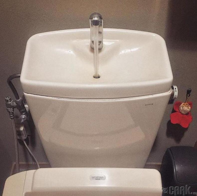 Гараа угаагаад дараа нь усаа татна