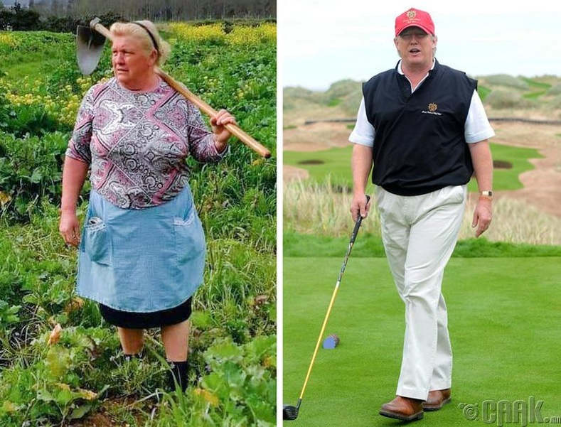 Испани фермер болон АНУ-ын ерөнхийлөгч Дональд Трамп