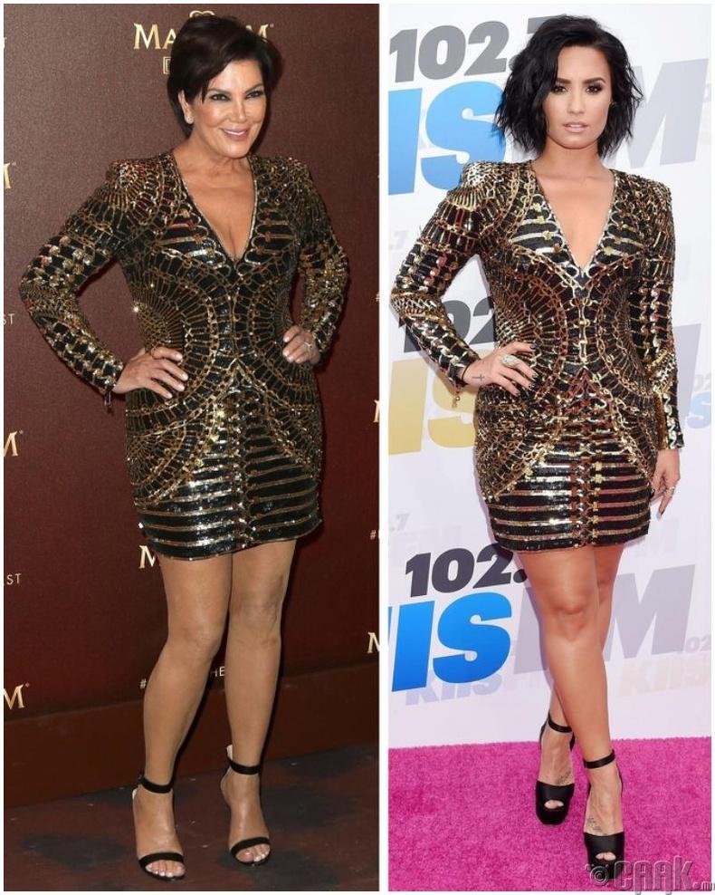 Крис Женнер (Kris Jenner) болон дуучин Дэми Ловато (Demi Lovato)