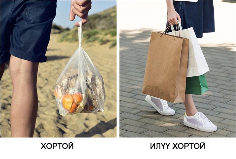 Цаасан уут гялгар уутнаас илүү хортой