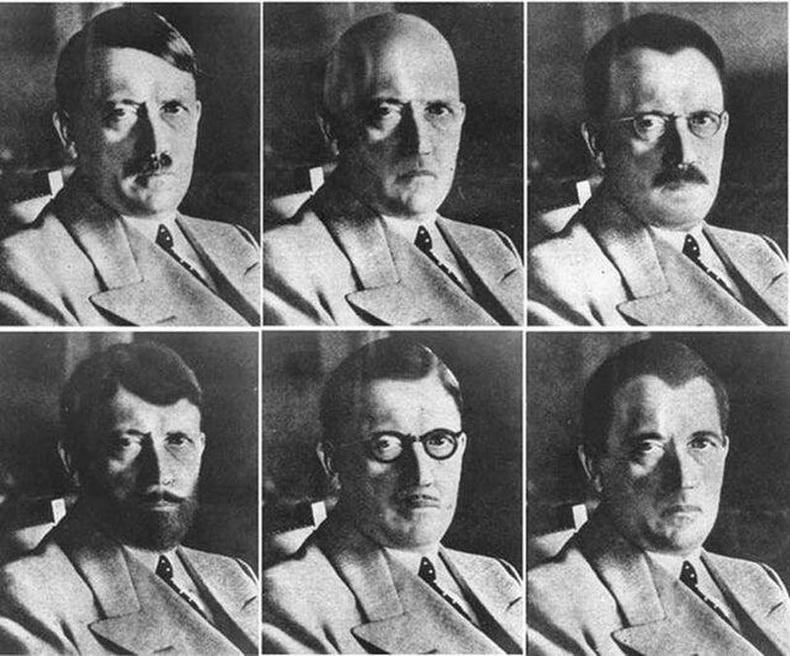 Гитлер зүсээ хэрхэн хувилгасан байж болохыг үзүүлсэн АНУ-ын тагнуулын албаны зураг