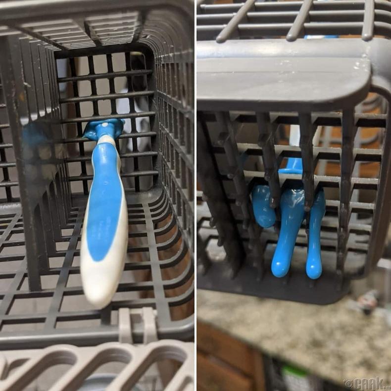 Хуванцар сэрээг аяга угаагчинд хийвэл