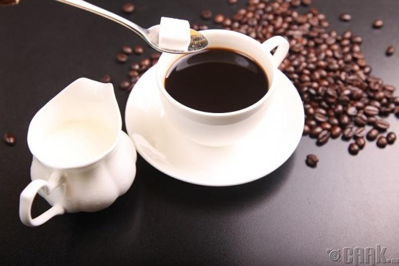 Согтууруулах ундаа, кофейн хэрэглэх