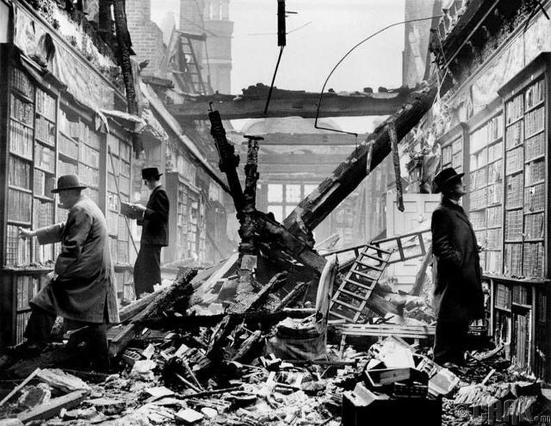 Лондонгийн номын сан шатсаны дараа, 1940 он