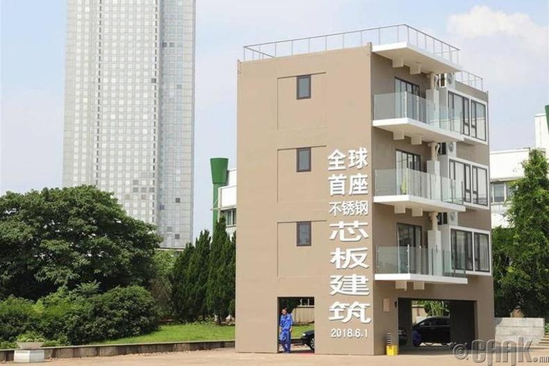 Хятадад нэг өдрийн дотор дөрвөн давхар байшин барьж болно.