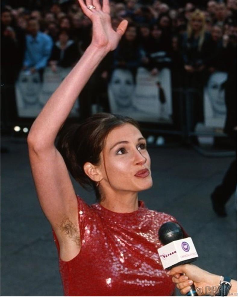 """Жүжигчин Жулиа Робертс (Julia Roberts) """"Notting Hill"""" киноны нээлтэн дээр, 1999 он"""