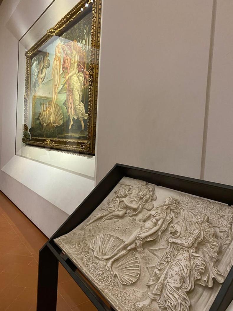 Флоренцийн галерей дахь уран зургийн брайль хуулбар