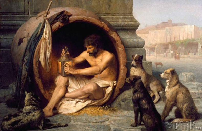 Диогенес шавар вааранд амьдарч байсан