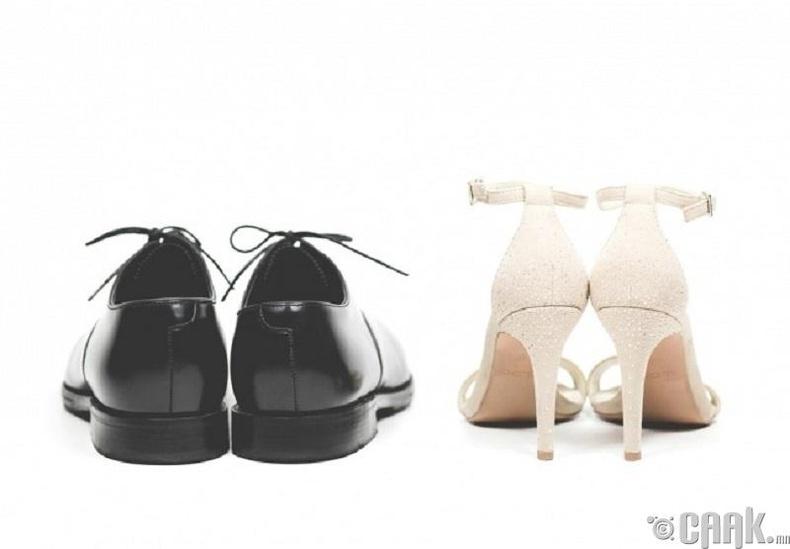 Өсгийтэй гутлыг эрчүүдэд зориулж бүтээсэн