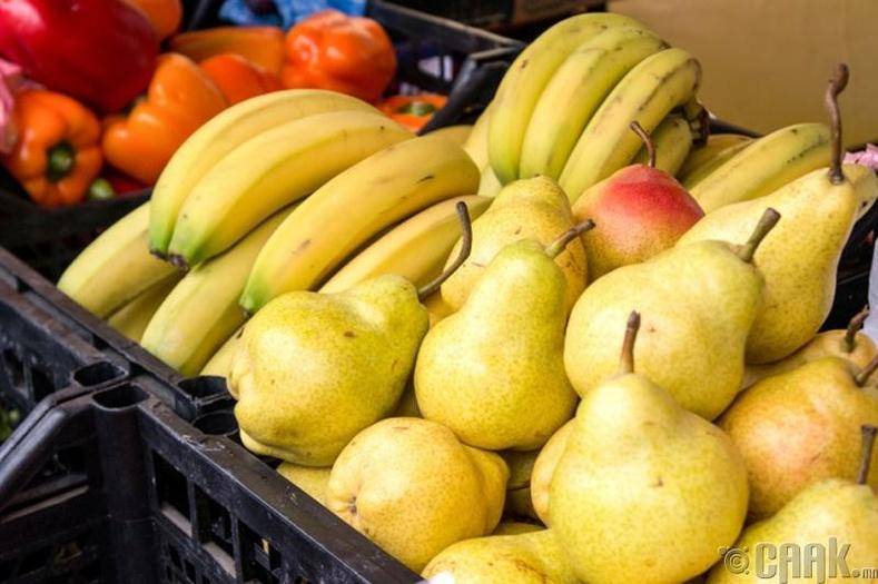 Зарим төрлийн жимс, ногоог тусад нь байлгана