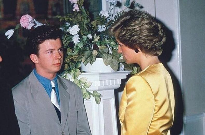 Дуучин Рик Астли болон Диана гүнж нар, 1988 он