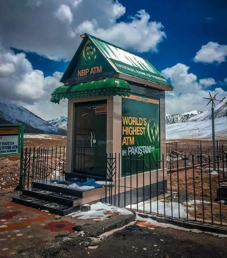 Хамгийн өндөрт оршдог АТМ Пакистанд бий
