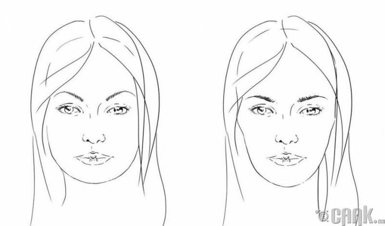Хөмсгөө хэрхэн нүүрнийхээ хэлбэрт тохируулж зурах вэ?