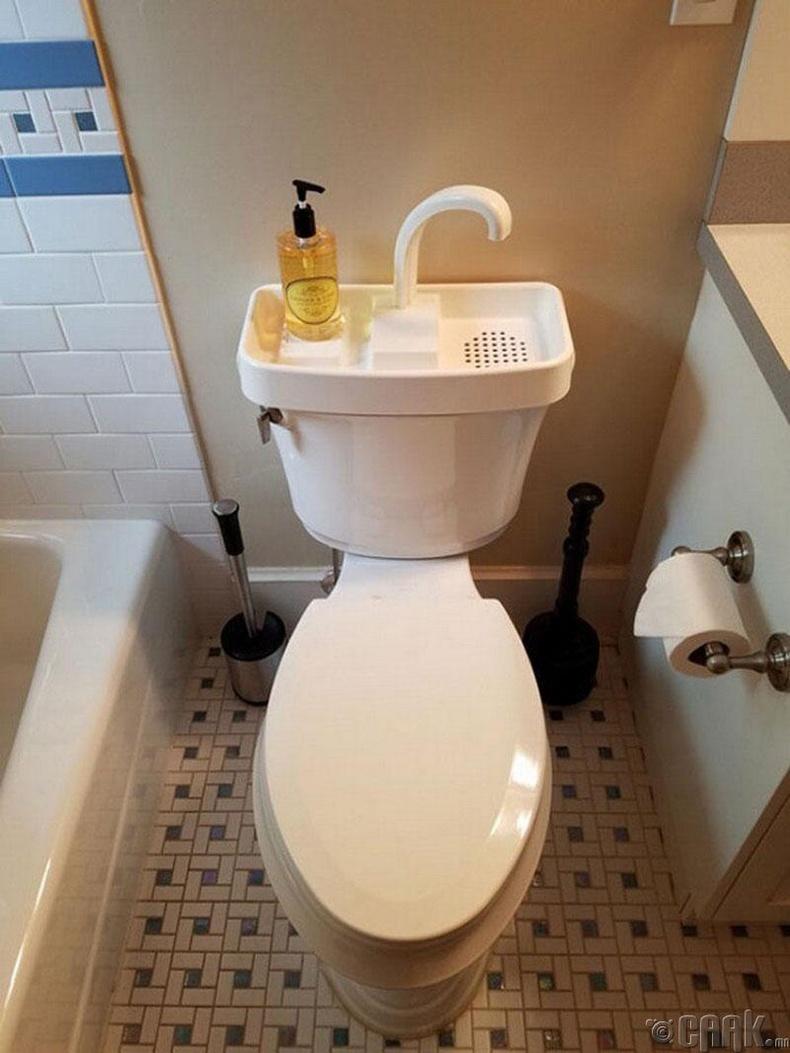 Ус гарздахгүйгээр гараа угаах суултуур