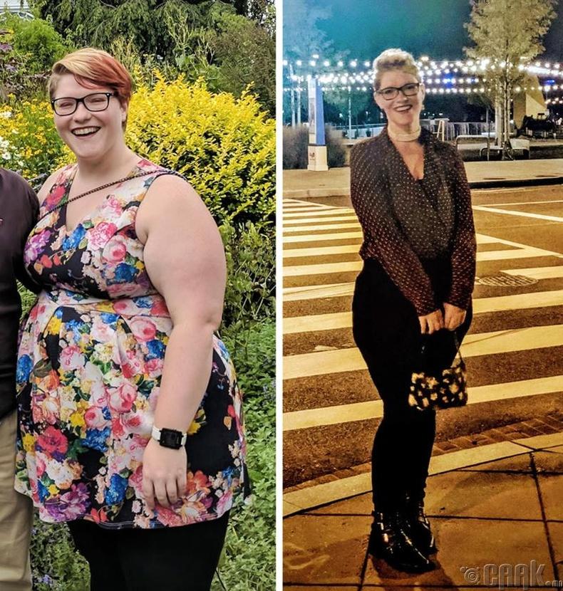 18 жилийн турш 3 оронтой тоотой жинтэй байсан энэ бүсгүй жилийн дотор 145-аас 90 кг болтлоо турж чаджээ