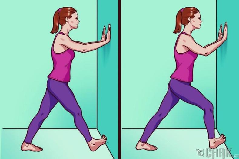 Ташааны дээд хэсгийн булчингийн сунгалт