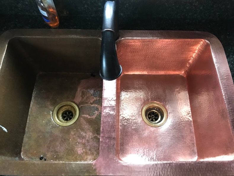 Зэс угаагуурыг цэвэрлэхийн өмнө ба дараа