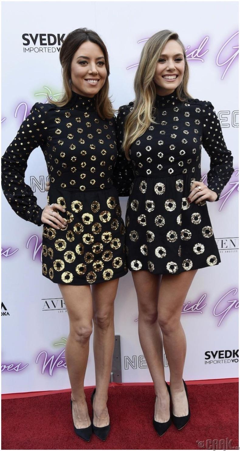 Жүжигчин Аубри Плаза (Aubrey Plaza) болон жүжигчин Элизабет Олсэн (Elizabeth Olsen)