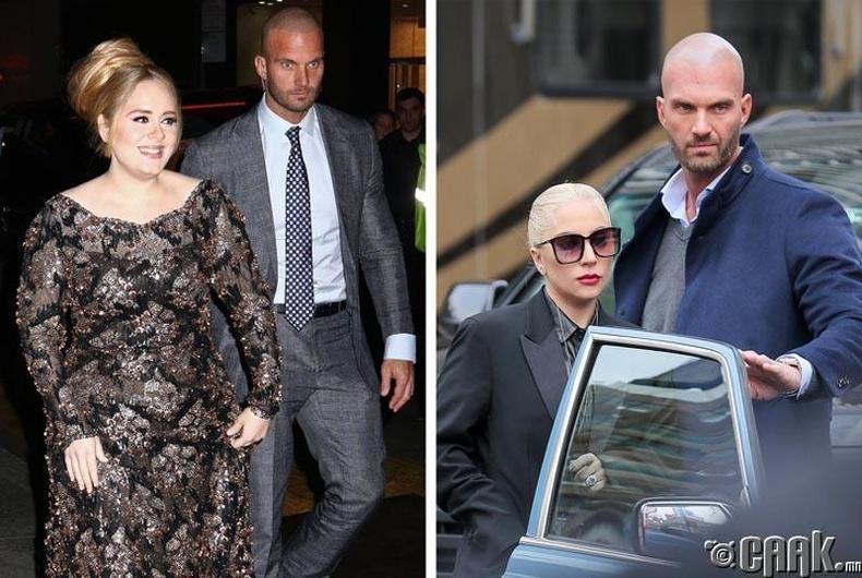 Адель (Adele), Леди Гага( Lady Gaga) нарын бие хамгаалагч