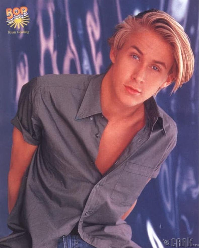"""Жүжигчин Райан Гослинг (Ryan Gosling) """"Bop"""" сэтгүүлийн нүүрэн дээр, 1999 он"""