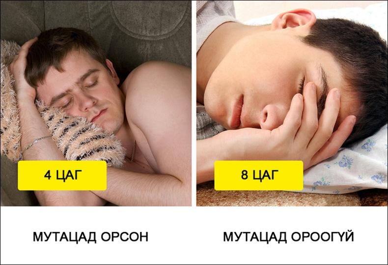 Зарим хүмүүс 4 цаг унтаад нойроо авдаг