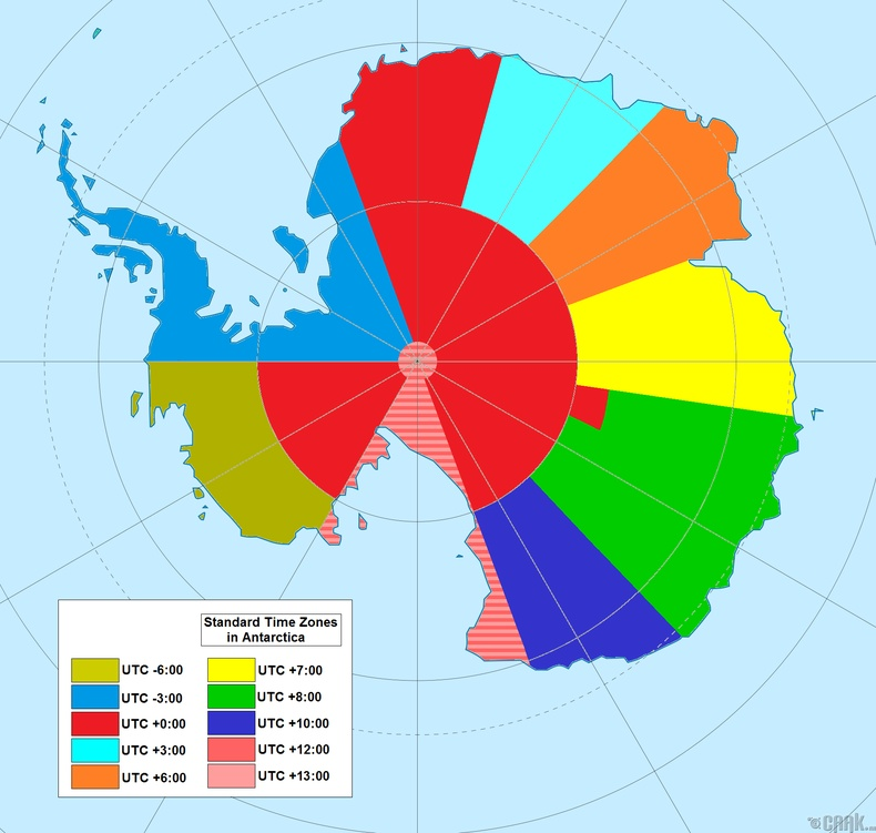 Бид бодохдоо: Антарктид тивд цагийн бүсүүд гэж байхгүй