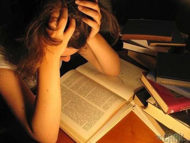 Шалгалтдаа унах, бодлого бодож чадахгүй байх