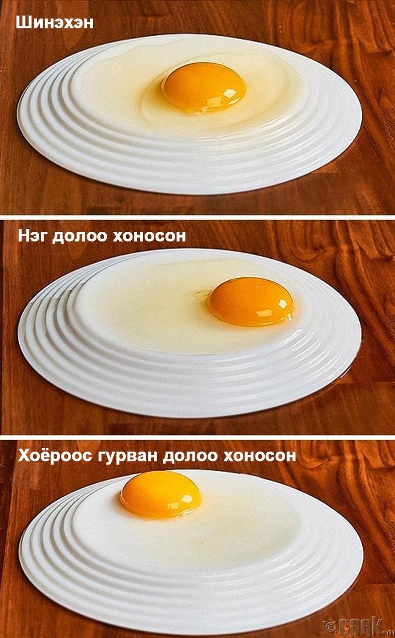 Өндөгний чанарыг шалгахын тулд...