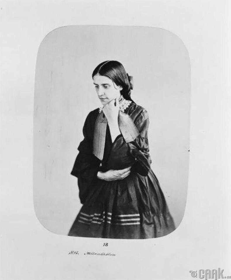 """Сара Гарднер - 26 настай гэрийн үйлчлэгч байсан тэрээр 1857 онд """"хүнд хэлбэрийн сэтгэл гутрал""""-д орж эмнэлэгт хэвтжээ."""