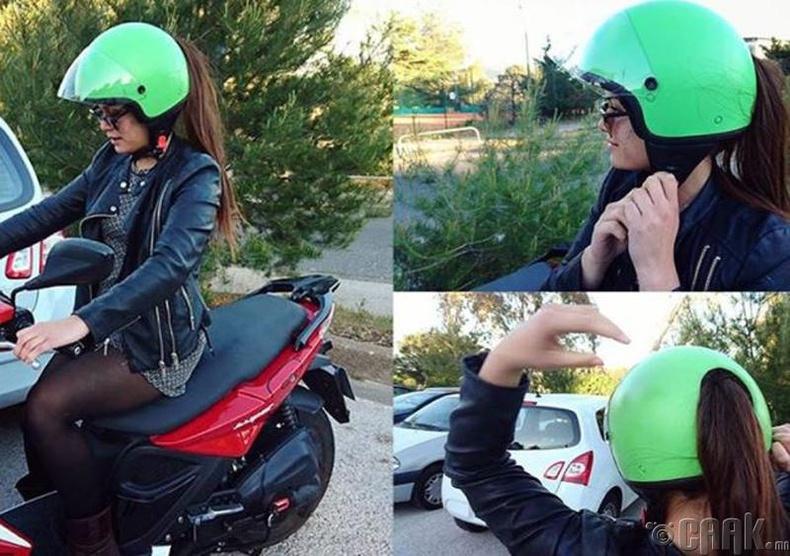 Үсээ гаргах боломжтой мотоциклын хамгаалалтын дуулга