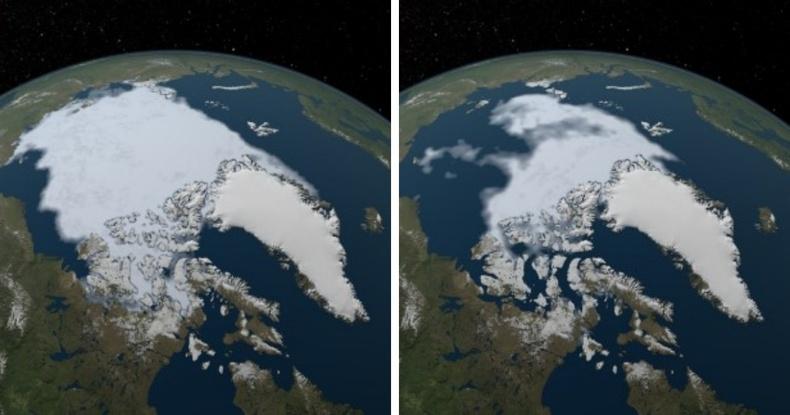 Арктикийн мөсийн талбай түүхэн бага хэмжээндээ хүрлээ