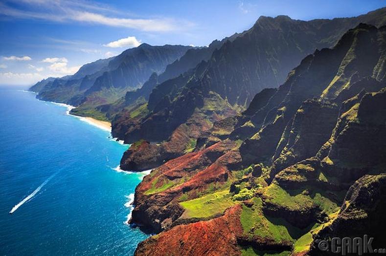 На Пали, Хавай арал