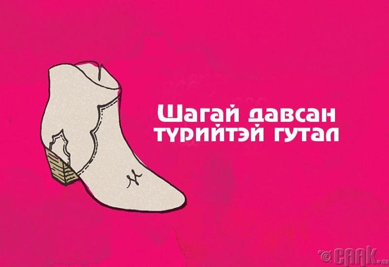 Шагай давсан түрийтэй гутал