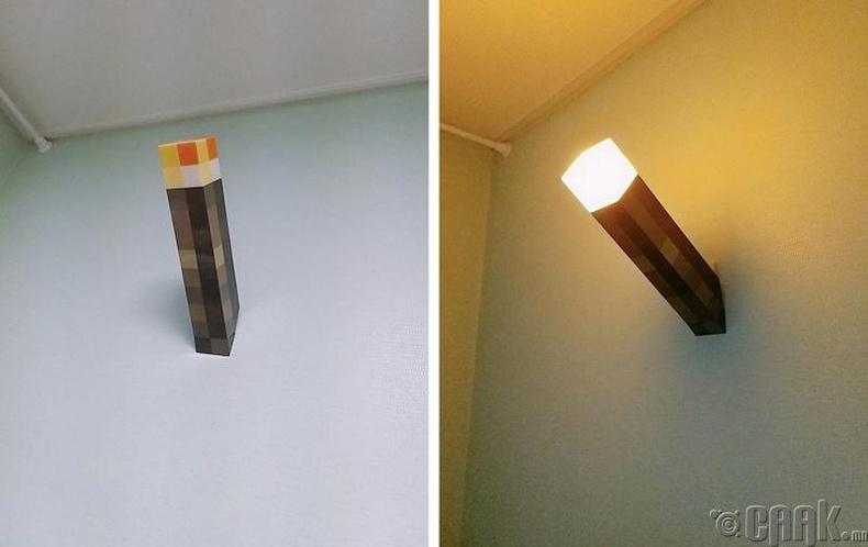 Minecraft тоглоомоос санаа авсан ханын гэрэл