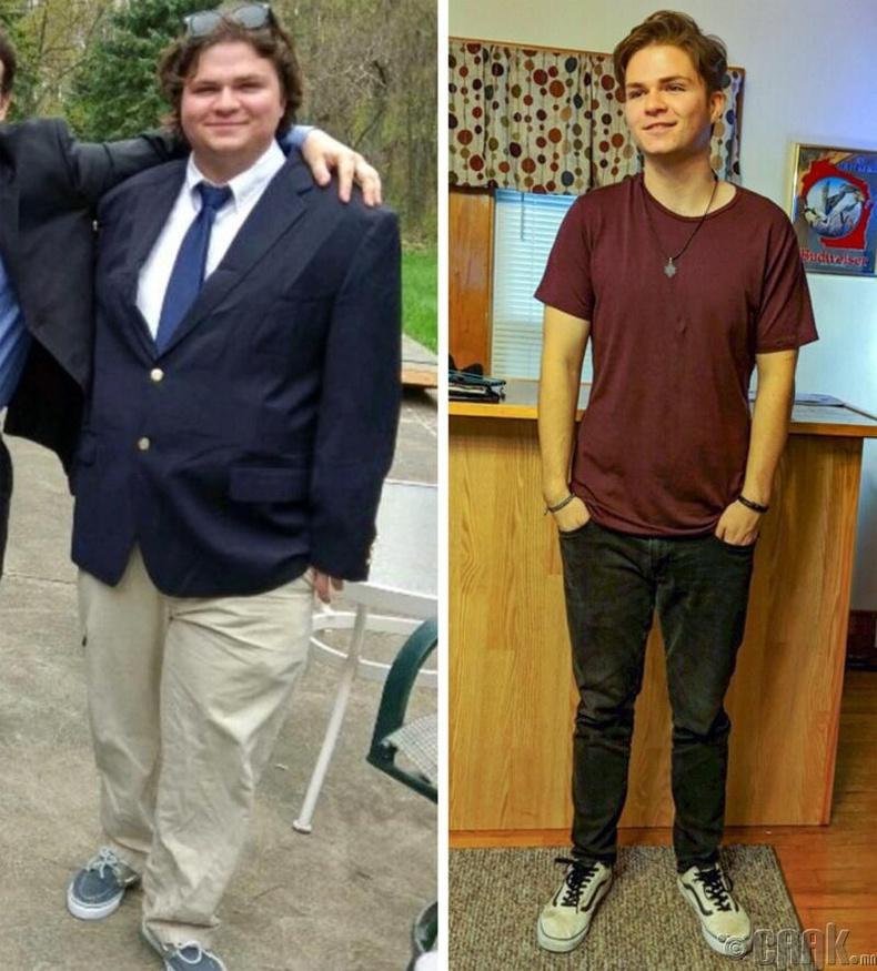 17 сарын дотор 45.5 кг жин хассан энэ залуу өсвөр насандаа эргэн очжээ