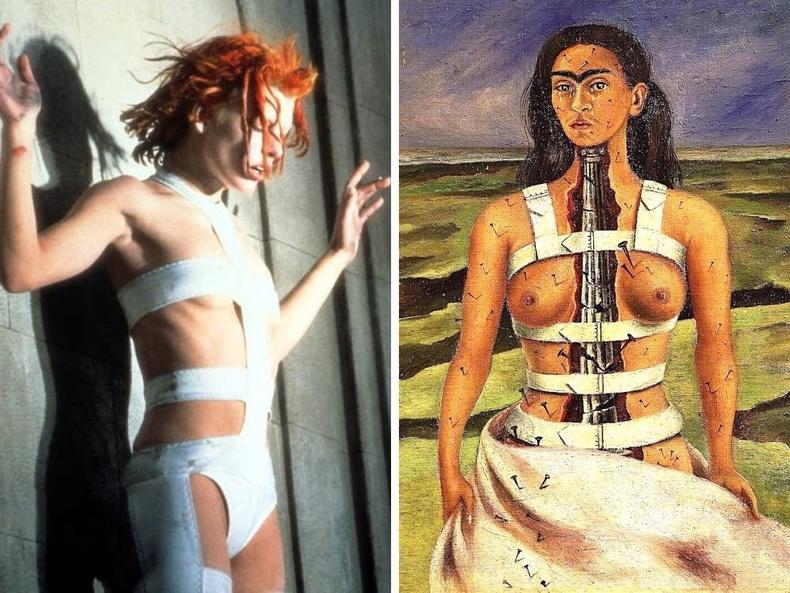 """""""Тав дахь элемент"""" (1997), найруулагч Люк Бессон - """"Эвдэрхий багана"""", зураач Фрида Кало, 1944"""