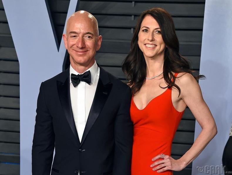 Жеф, Макензи Безос (Jeff & Mackenzie Bezos) - 36 тэрбум ам.доллар