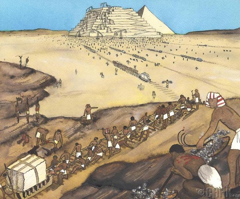 Пирамидийг боолууд барьжээ