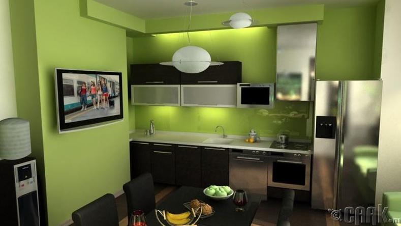 Ногоон өнгийн хана
