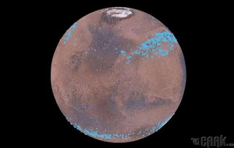 Ангараг дээр ус бий