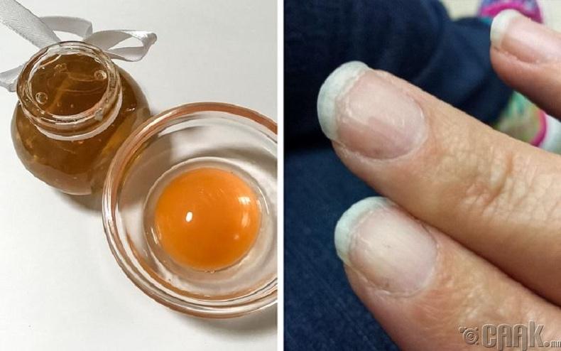 Өндөгний шар болон зөгийн бал