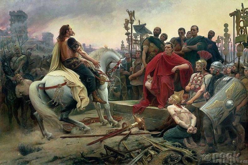 Цезарь Галлийн Алезийг бүсэлсэн нь