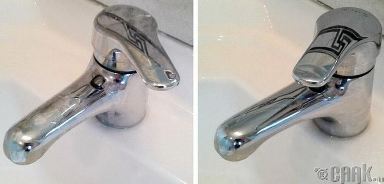 Угаалгын өрөө, гал тогооны өрөөний  усны цоргоны өнгөрийг цэвэрлэх
