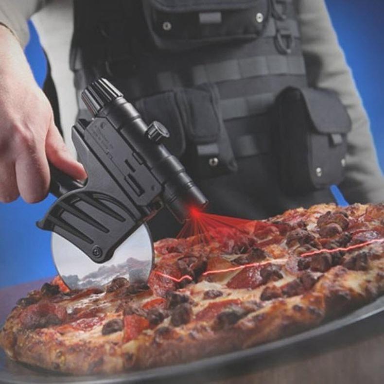 Лазераар хэрчдэг пицца зүсэгч