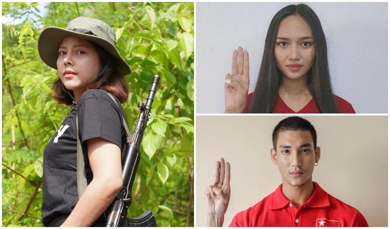 Улс эх орныхоо төлөө тэмцэлд зэвсэг барин нэгдсэн Мьянмарын залуу алдартнууд